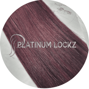 "Hair Extensions | Remy Russian 22"" Tape #99J Berrylicious - Platinum Lockz 
