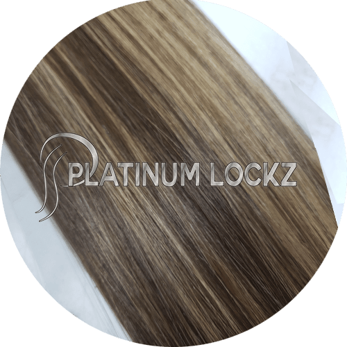 "Hair Extensions | Remy Russian 22"" Tape #P3-27 Mars Bar - Platinum Lockz 