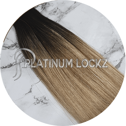 "Hair Extensions | Remy Russian 22"" Tape #T1B/18 - Platinum Lockz 