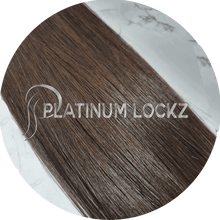 "Load image into Gallery viewer, Hair Extensions | Remy Russian 24"" Tape #2 Chocolate Brunette - Platinum Lockz 
