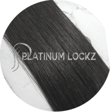 "Load image into Gallery viewer, Hair Extensions | Remy Russian 26"" Tape #1B Darkest Brown Black - Platinum Lockz 