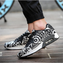 Men's Shoes - Air Mesh Breathable Printed Leisure Shoes