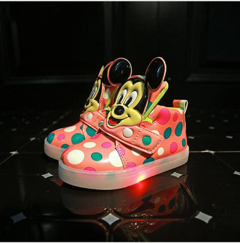 Lighted up LED kids sneakers