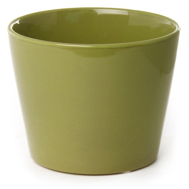 Ceramic Conical Pot - Assorted Colours (12cm x 15cm)