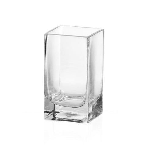 Clear Glass Square Vase (20cm X 10cm)