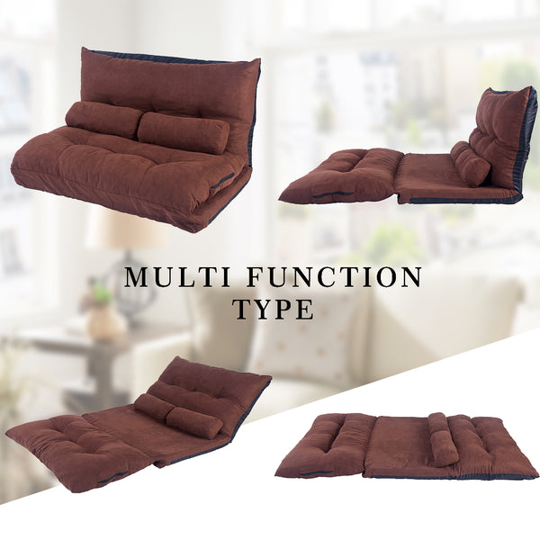 Multifunctional Foldable Lounge SofaBed with Two Pillows