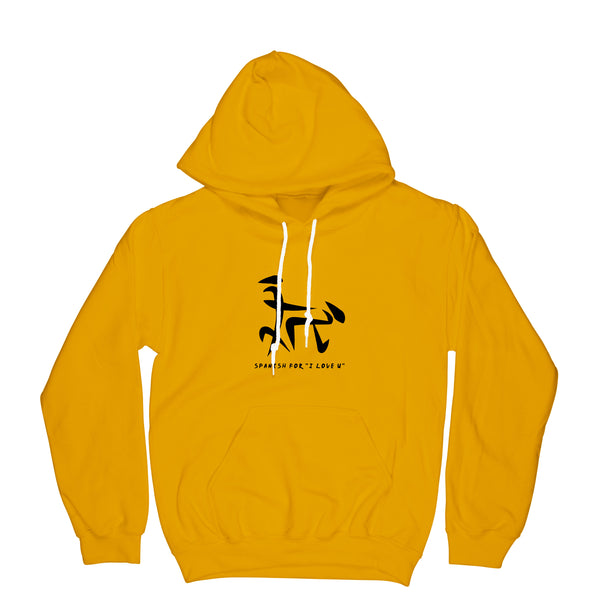 Yellow Hoodie Spanish for I love you