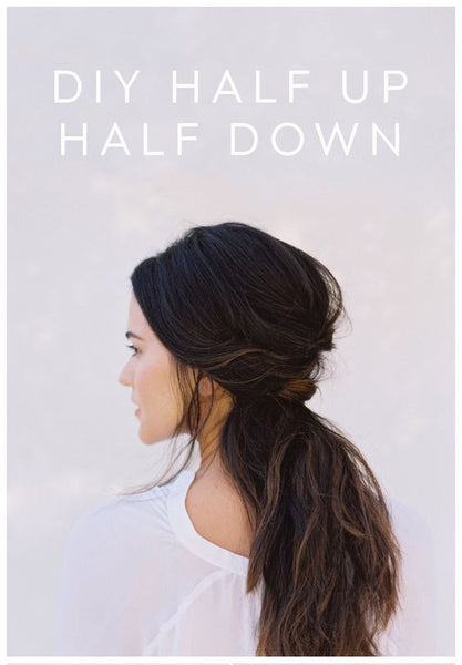 DIY HALF UP HALF DOWN | CLIP-IN HAIR EXTENSIONS INDIA