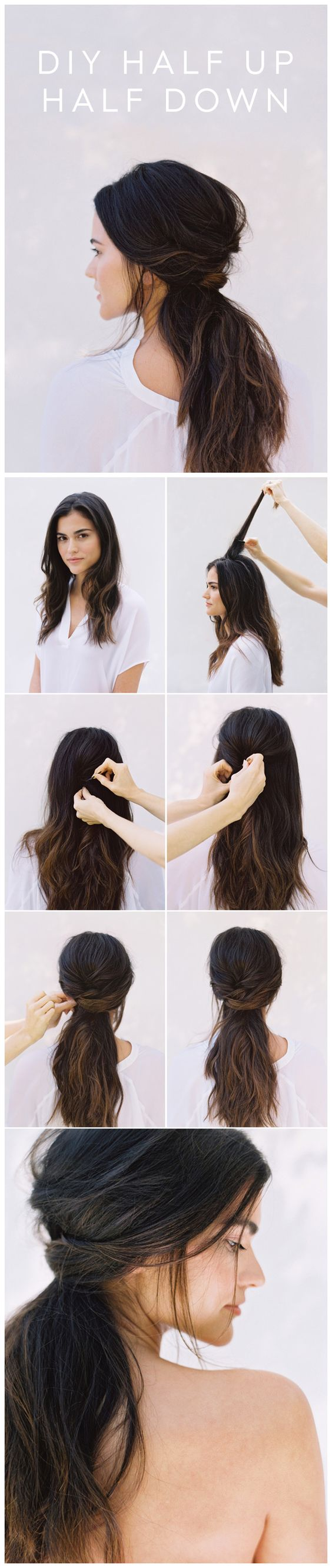 DIY HALF UP HALF DOWN | CLIP-IN HAIR EXTENSIONS BY INSTALENGTH.COM