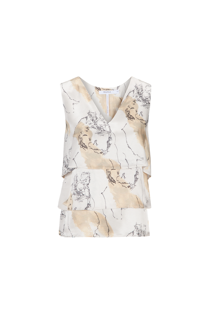 REVEAL PRINTED TOP - rhumaa