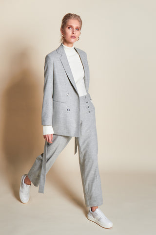 WORTHY GREY BLAZER - rhumaa