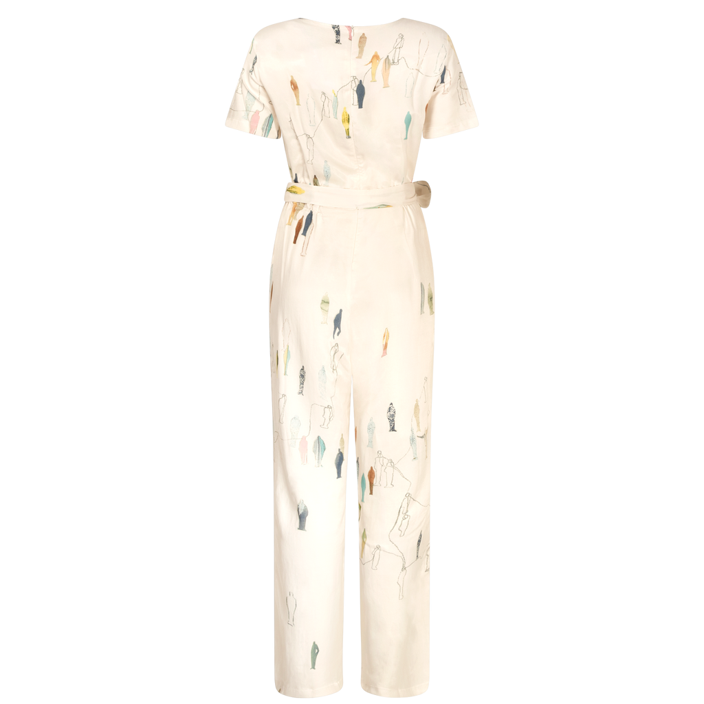 INFLUENCE CREAM ART JUMPSUIT
