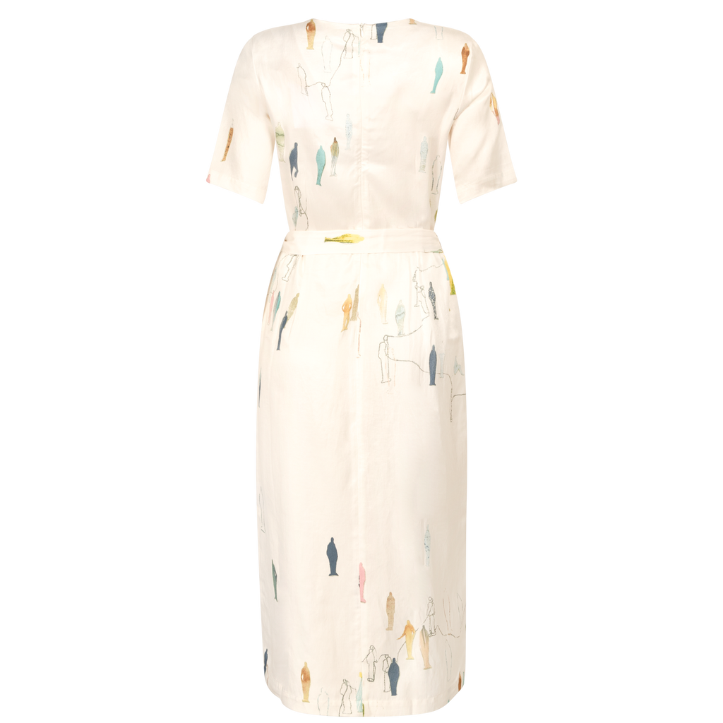 UNIQUE CREAM ART DRESS