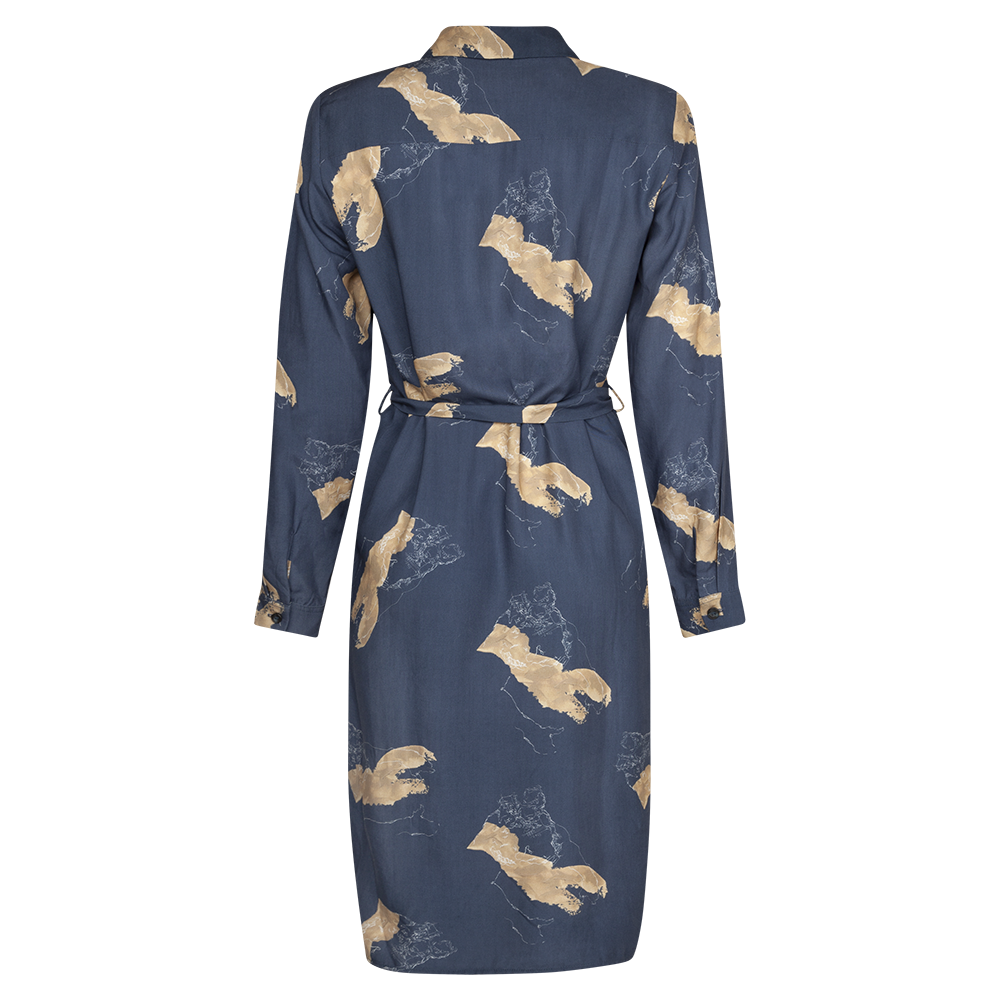 CONNECTION PRINTED DRESS - rhumaa