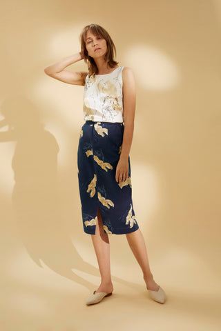 POWER PRINTED SKIRT - rhumaa