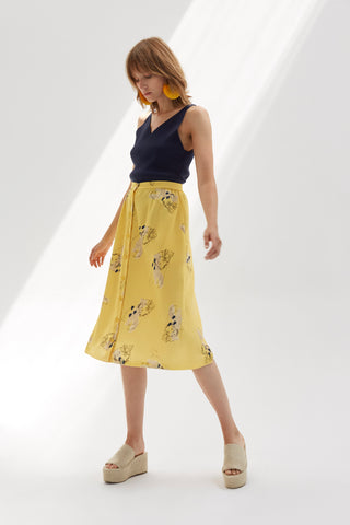 EXPRESS PRINTED SKIRT - rhumaa