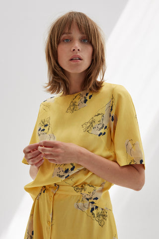 SOCIETY PRINTED TOP - rhumaa
