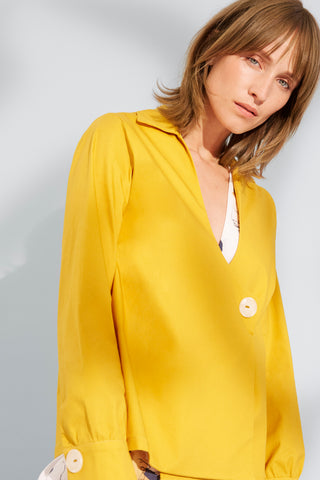 SELF MARIGOLD WRAP SHIRT - rhumaa
