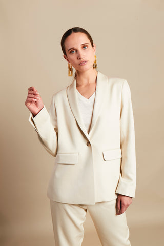 MESSAGE CREAM BLAZER