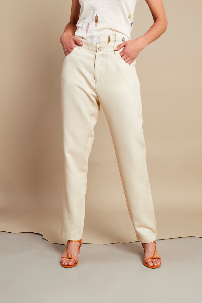 MESSAGE CREAM TROUSER