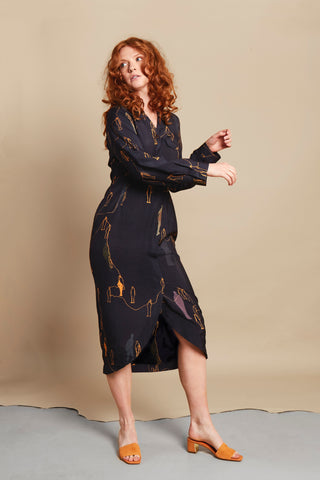 POWERFUL ART NAVY DRESS