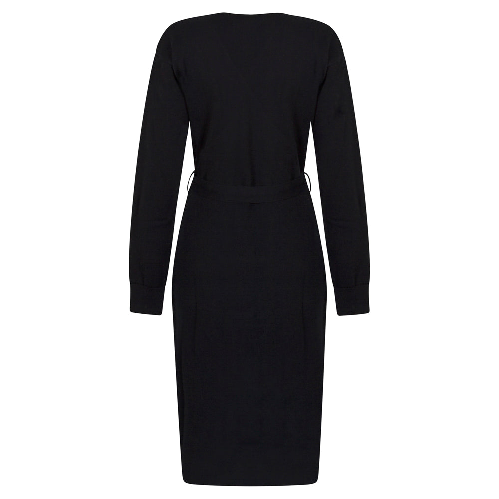 BEING NAVY KNIT DRESS - rhumaa