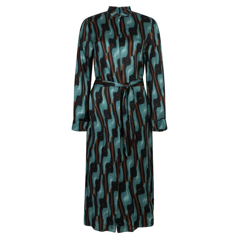 CONSCIOUS ART SEA GREEN DRESS - rhumaa