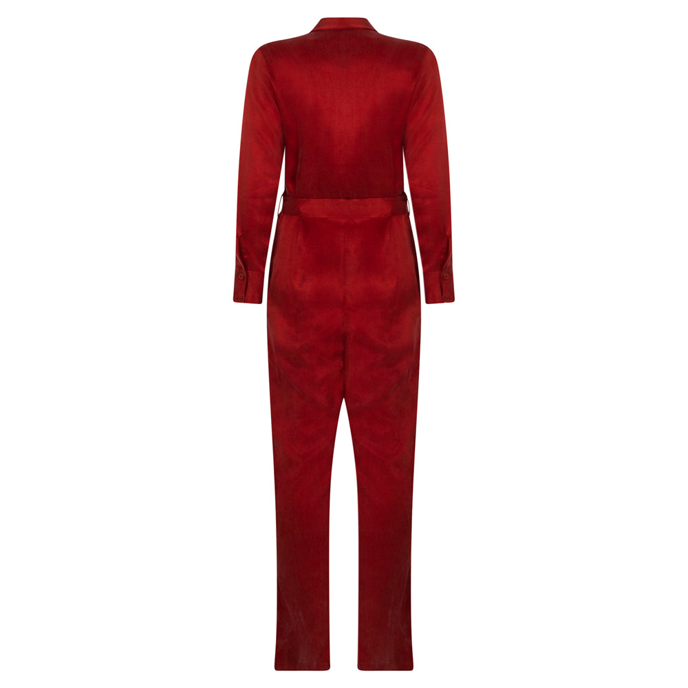 COMMUNICATE RUST JUMPSUIT - rhumaa