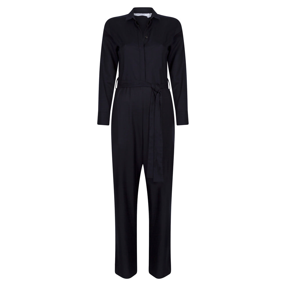 COMMUNICATE NAVY JUMPSUIT - rhumaa
