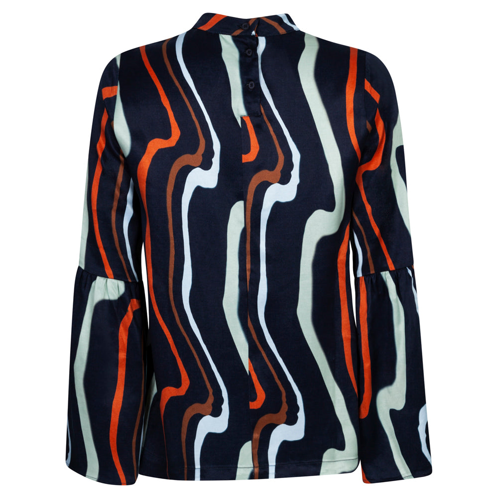 MORAL ART NAVY TOP - rhumaa
