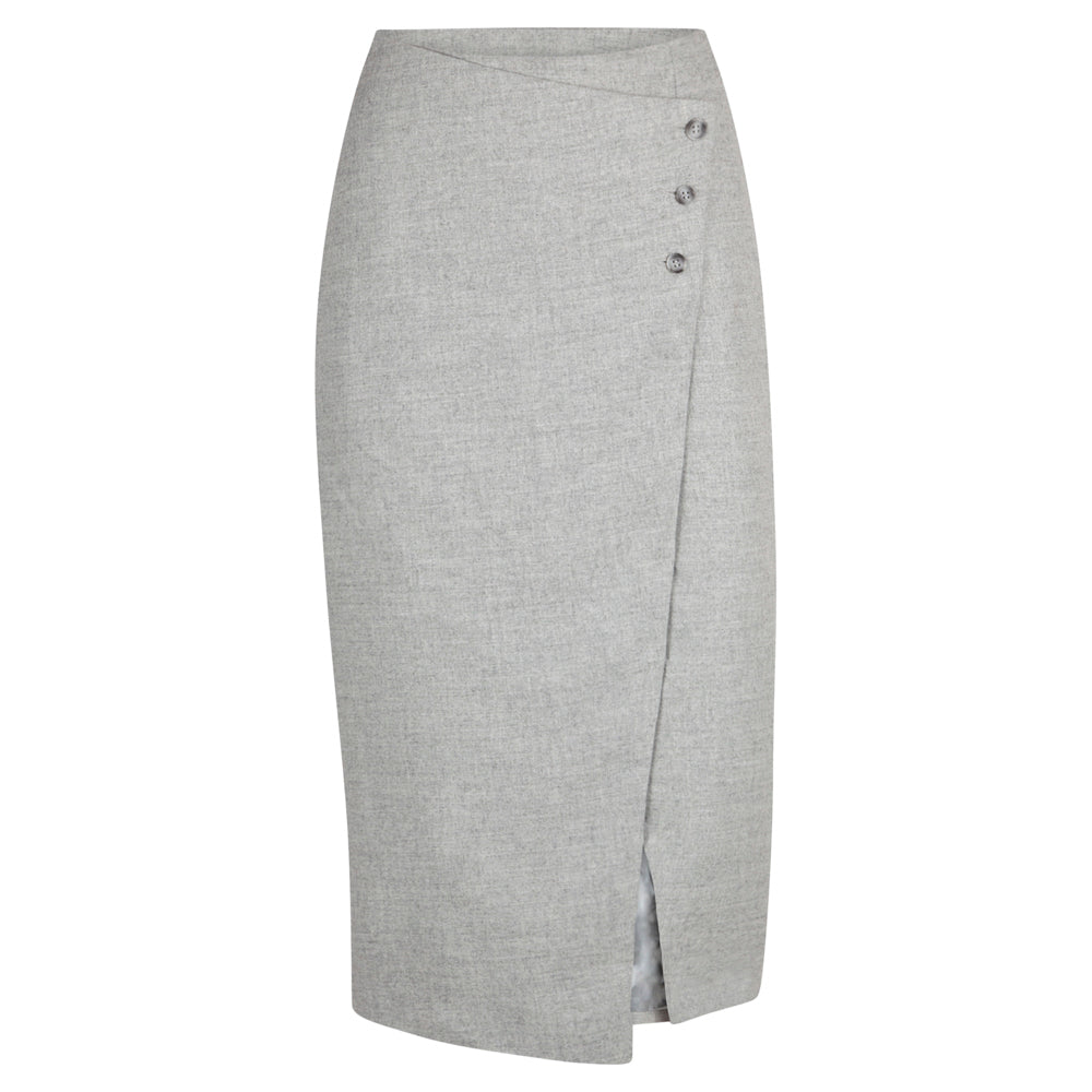 LENSE GREY SKIRT - rhumaa