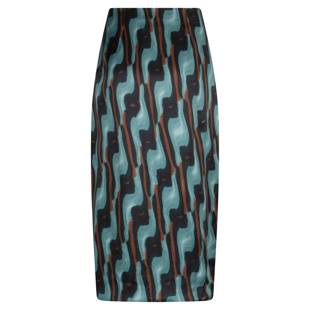 LENSE ART SEA GREEN SKIRT - rhumaa