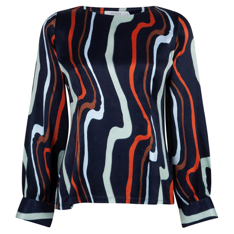 HARBOUR ART NAVY TOP - rhumaa
