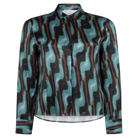 HONEST ART SEA GREEN SHIRT - rhumaa