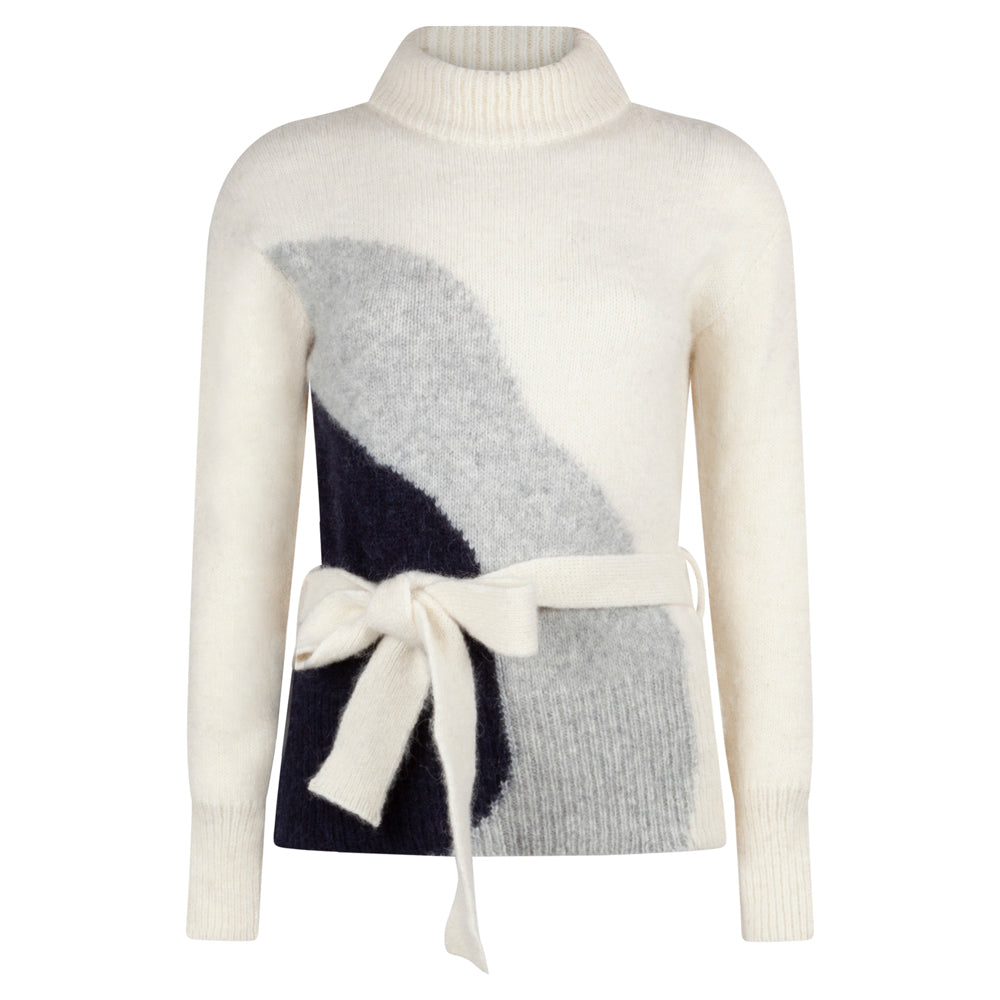 OBSOLETE CREAM TIE JUMPER - rhumaa
