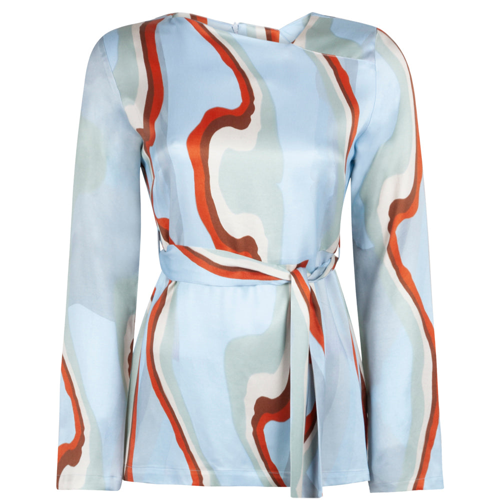 SOCIAL ART BLUE TOP - rhumaa