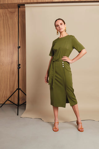 UNIQUE KHAKI DRESS
