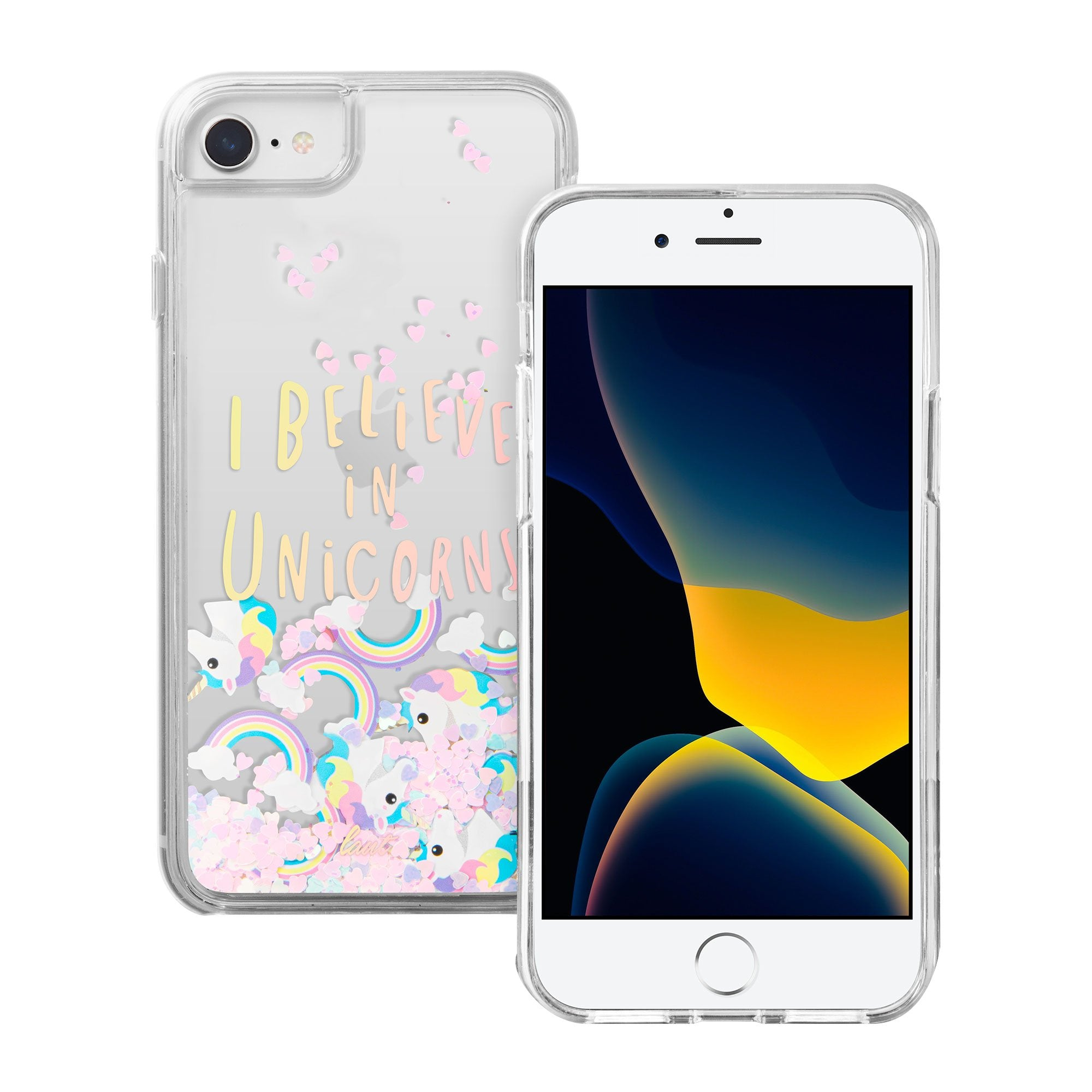 Liquid GLITTER UNICORNS case for iPhone SE 2020 / iPhone 8/7