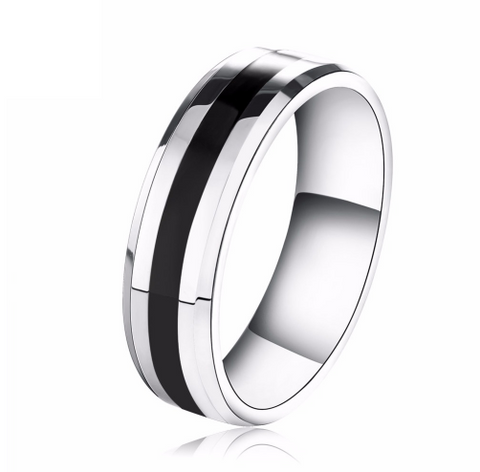 Black Plated Steel Ring