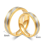 Gold Stripe Couple Ring