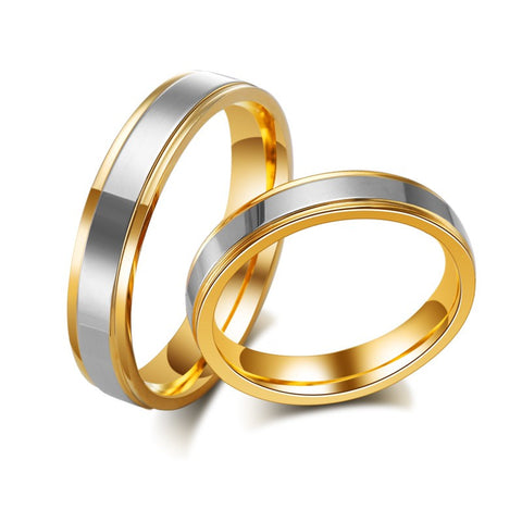 Gold Plated Steel Couple Ring
