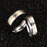 Gold Triple Zircon Couple Ring