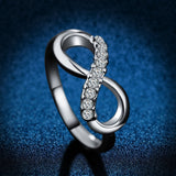 Infinity Zircon Crystal Ring