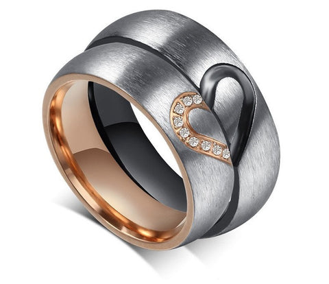Heart Match Couple Ring