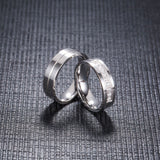 Silver Zirconia Couple Ring