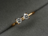 Zircon Crystal Bow Ring