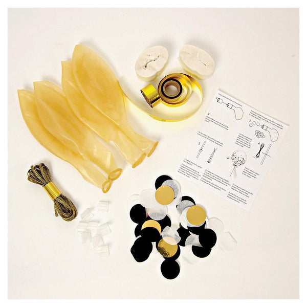 Gold Konfetti Ballon-Kit