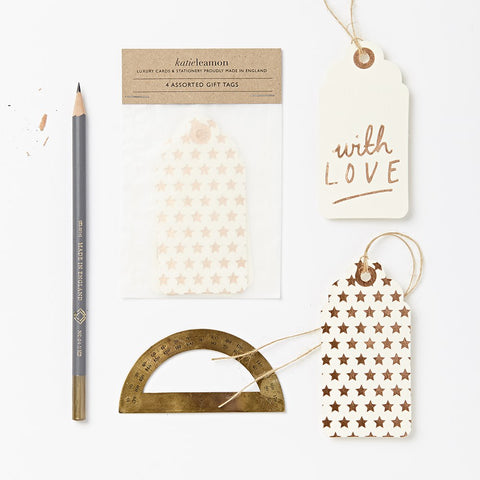 "Geschenkanhänger ""with love"" Luxury Cream Gift Tag 