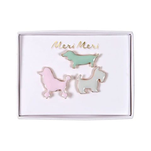 Hunde Emaille Pins
