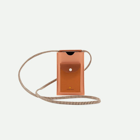 phone pouch XL pink + brown Handytasche | Sticky Lemon